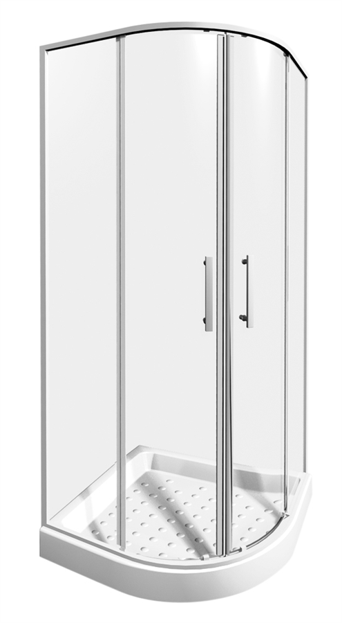 JIKA Lyra Plus sprchový kout 90 čtvrtkruh R550, sklo transparent, v.190 2.5338.2.000.668.1 H2533820006681 # 219299853
