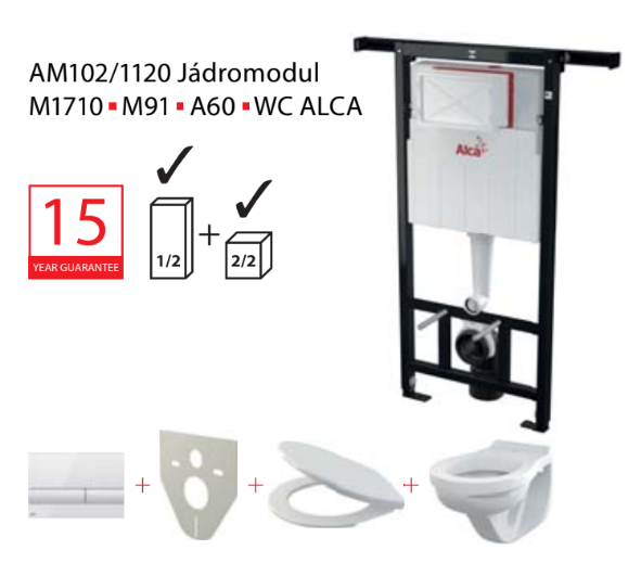Set modul 5v1 Alcaplast ALCAmísa AM102/1120,M1710,M91/sedátko/mísa Jádromodul AM102-5:1P169 # 219316