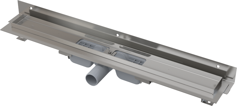 Alcaplast Alcaplast Alcaplast APZ104-850-LOW podlahový žlab ke zdi v.55mm SNÍŽENÝ min. 900mm kout APZ104-850 219278710 APZ104-850
